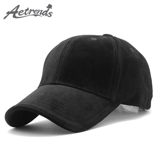 [AETRENDS] 2018 nuovo marchio 100% cotone berretto da baseball da uomo cappelli polo cappello Z-3023