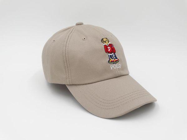 5 Colors Cheap Outdoor Leisure Cartoon Bear The New Polo Black Baseball Cap Hockey Gorra Retro Fashion Hat Free Shipping