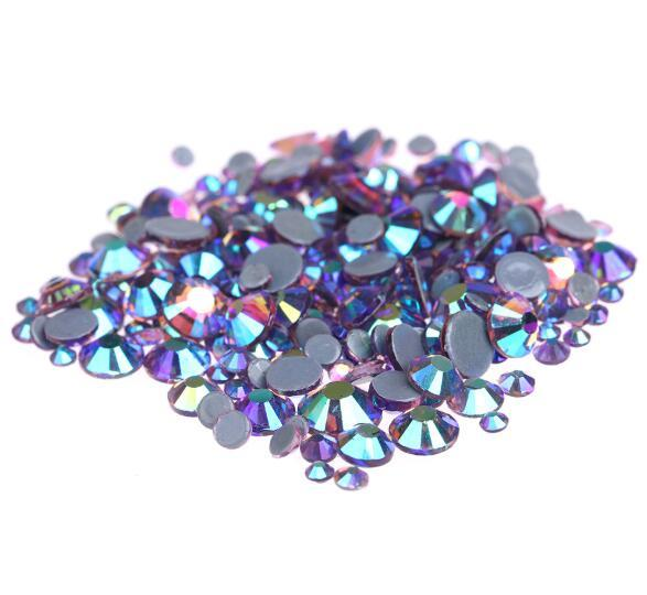 Hot Sale A++ Grade Quality LT.amethyst AB Glass Crystals Strass Stones Hotfix Rhinestones For clothing Garment Accessorie
