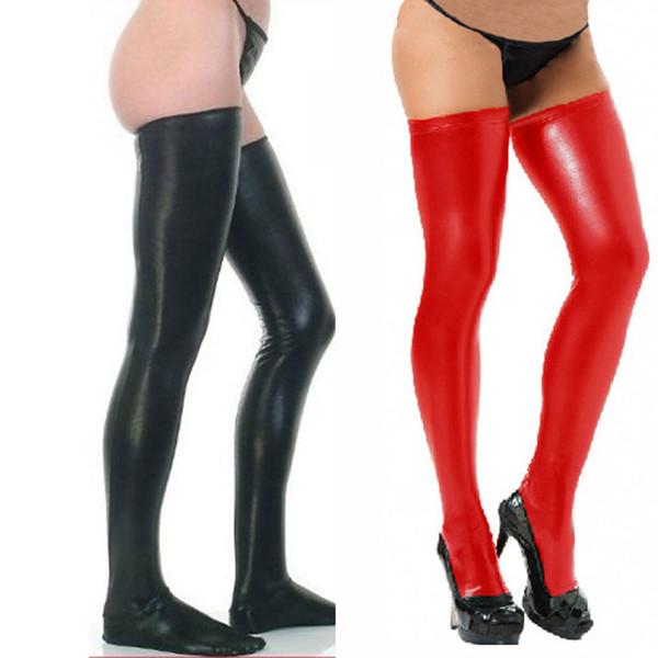 Lange Frauen OverkneeG Über Knie Oberschenkel Strümpfe Großhandel Neue Stretch Mädchen Strings Pu Höhen Leder Für Casual LVqSjzpUMG