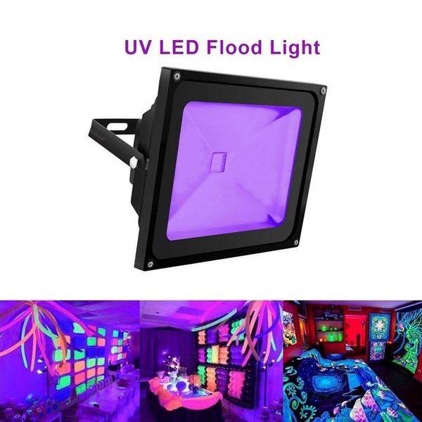Projecteur UV de la puissance élevée 10W 20W 30W UV de lumière de Blacklight imperméable pour des approvisionnements de partie Lueur de la lueur de néon dans l'aquarium sombre de pêche