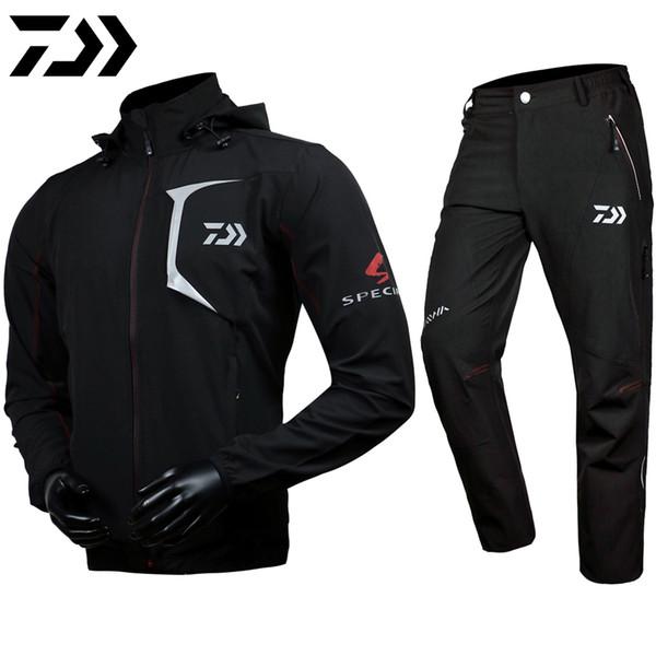 DAIWA DAWA 2018 Fishing Clothes Pants Coat Dawa Suit Hooded Sunscreen Jacket Parka Waterproof Breathable Man Clothing