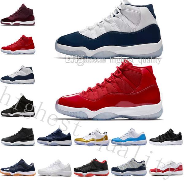 Nuevo top alto 11 Citrus 72-10 space jams blanco Olympic Concord Gamma Blue Varsity Red Navy Gum zapatos de baloncesto masculino US 5.5-13 Eur 36-47