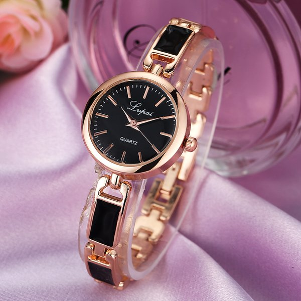 LVPAI Brand Luxury Women Bracelet Watch China Alloy Quartz WristWatches Ladies Dress Watch Fashion Casual Gift Clock