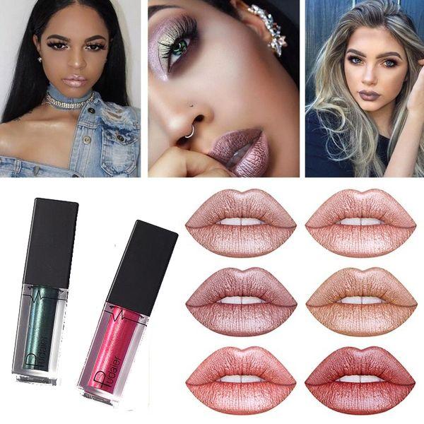 Magic glitter lips Pudaier lipstick mate rossetto liquido Long Lasting Diamond Metallic Lip Gloss Liquid Lipstick lapiz labial
