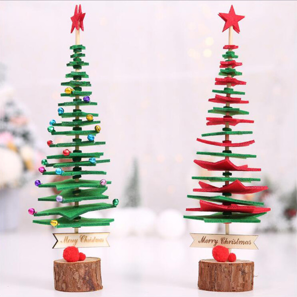 New Children Diy Non Woven Fabric Christmas Tree Kids Christmas Party Christmas Tree Gift Home Party Decorations Cheap Decorations For Christmas Cheap