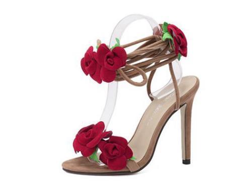Pies 42 Dili De Traje Yardas Exterior Atractivas Envío Comercio Tridimensional Rosa Cruzado Tacón Alto Sandalias Compre Zapatos FK1c3JTl