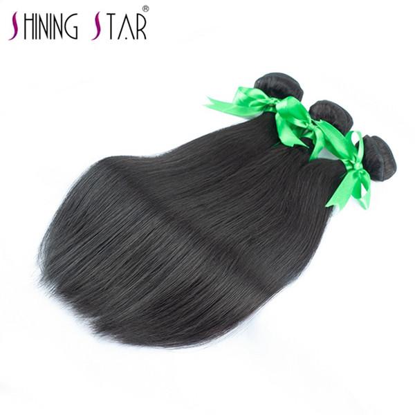 Pelo de la onda recta bundles Queen Hair Products 100% Virgen sin procesar remy humano tejido extensión del pelo 3 unids / lote