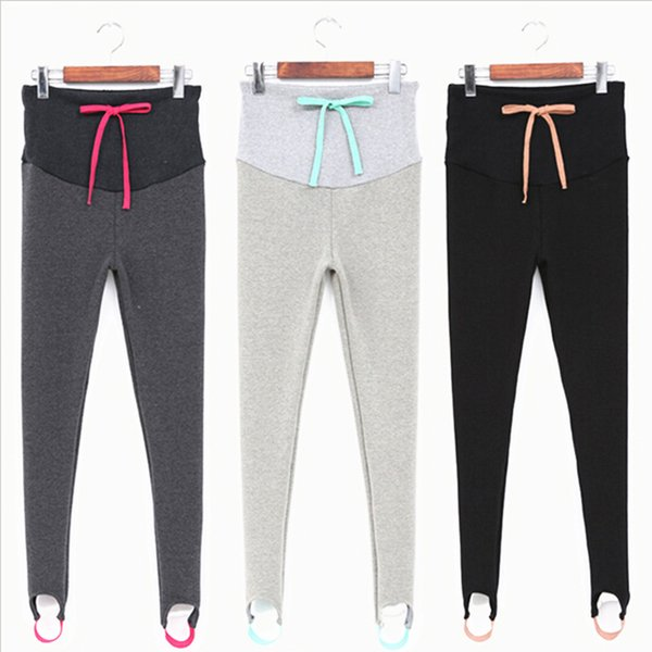 ef18ce6208c54 Wool COTTON Leggings Pregnant Leggings Femme Enceinte Spring Maternity  Pants Maternity Clothes Thickened With Velvet SYHB12242