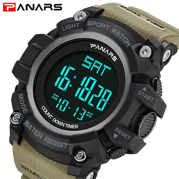 Nuevo diseño PANARS Men S SHOCK Style Relojes de pulsera Marca de lujo Relojes digitales Moda para hombre Deporte Cronógrafo Relogio masculino