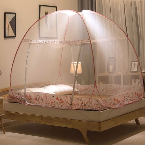 Folding Round Dome Mosquito Net Yurt Bed Tent For Adults Bed Canopy Mesh Moustiquaire Anti Mosquito Insect Bed Canopy zanzariera