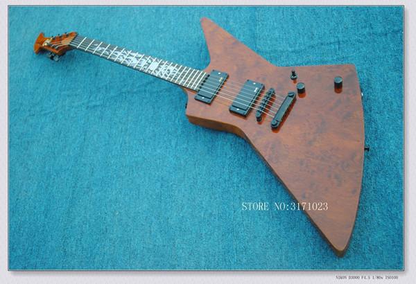 Guitare en bois OEM de haute qualité en bois de guitare électrique de style K brun