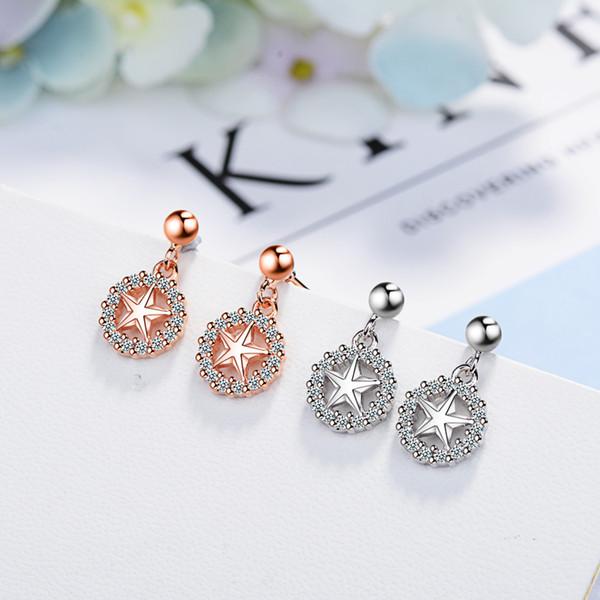 5 paia / lotto Brillanti orecchini pendenti in cristallo con brillantini per le donne Gioielli di moda Brincos Bijoux Femme Regali di Natale