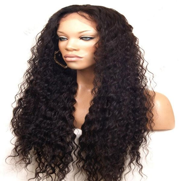 Hot Selling Black Kinky Curly Lace Front Human Hair Wigs with Baby Hair Heat Resistant Glueless Brazilian Full Lace Wigs for Black Women