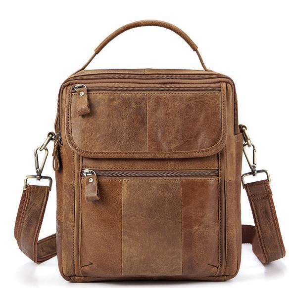 Мужские сумки из натуральной кожи Мужские мужские сумки через плечо с маленьким клапаном Повседневная сумасшедшая кожаная сумка через плечо Урожай сумка через плечо