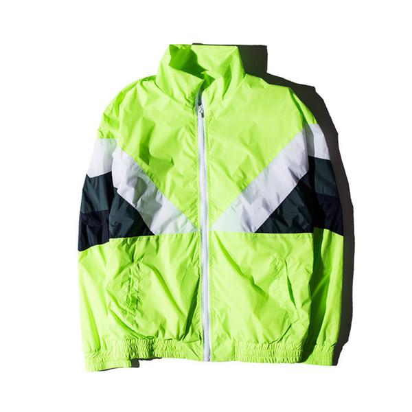 fashion Gosha Rubchinskiy Jacket For Men Women Color-Block Sport Coat New Style Varsity Jackets Retro Streetwear Overcoat free shipping
