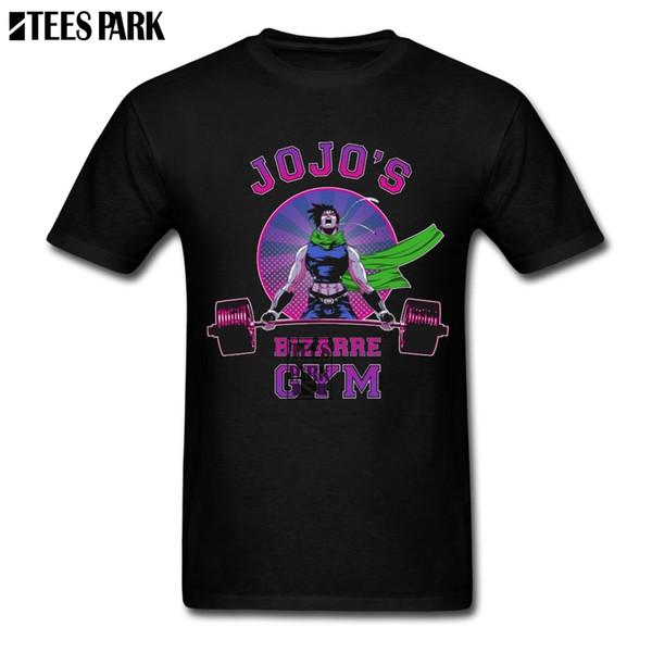 Camicetta di JoJo's Bizarre Adventure Retro T Shirts Camicie a maniche corte in cotone Personality Men Latest Anime Shirt manica corta 2018