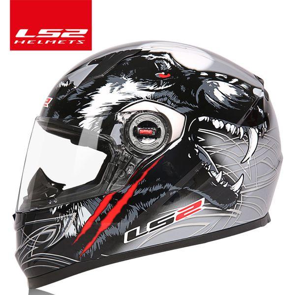LS2 küresel mağaza LS2 FF358 tam yüz motosiklet kask motocross yarış kask ECE Belgelendirme adam kadın casco moto casque