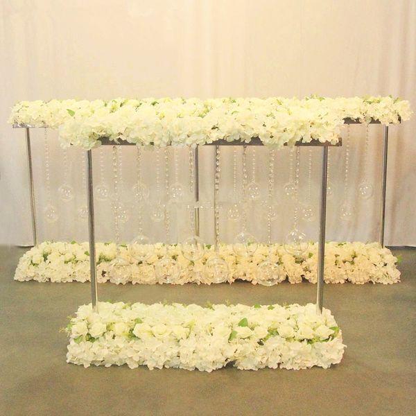 no flower including )Clear transparent glass flower vase for wedding table decoration
