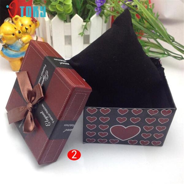 OTOKY Unique Gift Box Wristwatch Box for Watch Original Watch Bow Paper Drop ship F25