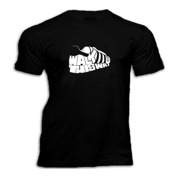 YÜRÜYÜN YOL T Shirt Baskı% 100% Pamuk Kısa Kollu T-Shirt Yeni En Tees Stil Moda Erkekler T Shirt% 100% Pamuk Klasik