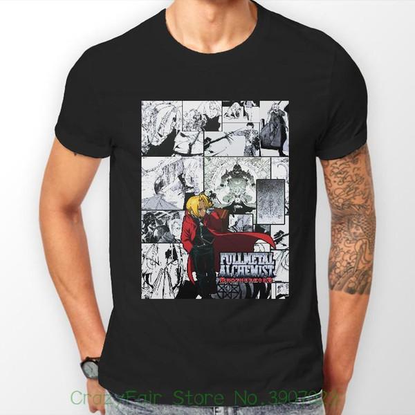 Full Metal Alchemist Irmandade Elric Fma Anime Tshirt T-shirt Tee Todos Os Tipos de Homens T-shirt de Algodão 100%