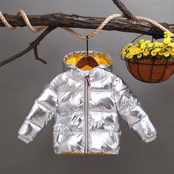 Зимняя детская куртка с капюшоном для мальчика Девочки Детская одежда Куриная водонепроницаемая верхняя одежда Пальто Baby Girl Parka