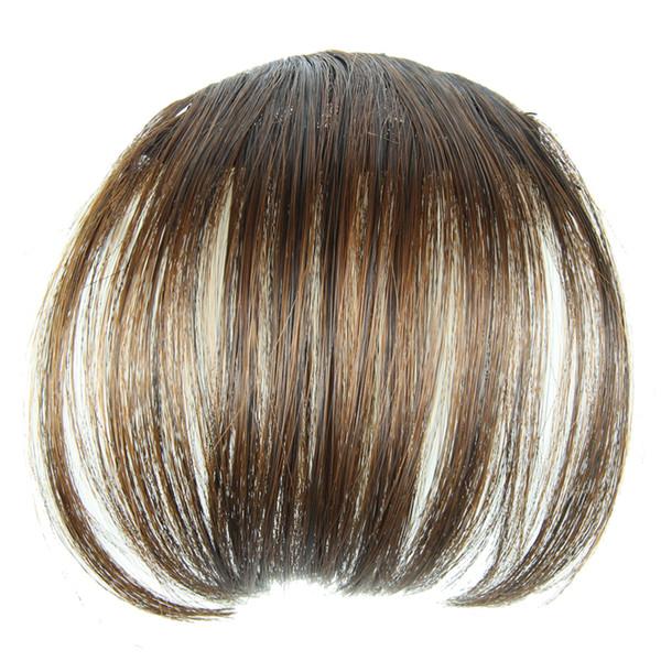 top popular 1pcs Beauty Bang Hair Fashion Bold & Blunt Hair Fringe,Hair bang, 100% Like human hair Made,4 colors available,Hot sale 2019