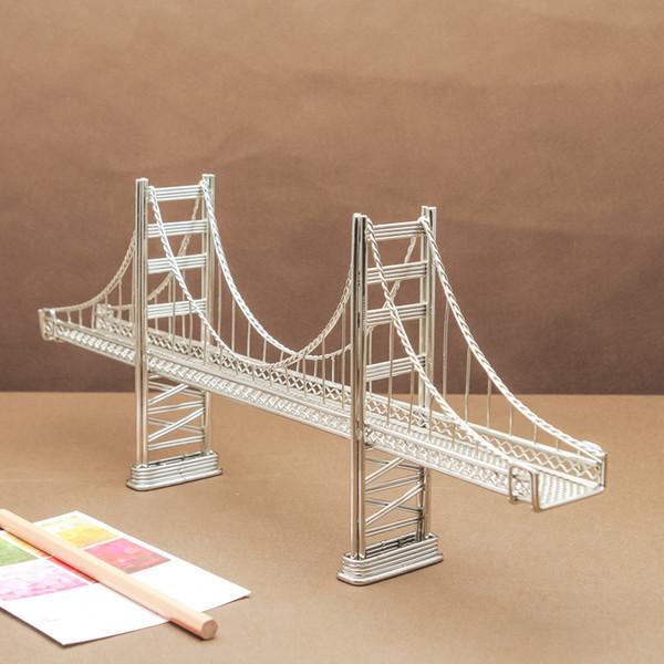 Compre Expedição Livre J45 Golden Gate Ponte Ponte Modelo Inoxidável Feito à Mão Arte Crafts Casamento Aniversário Casa Jardim Escritório Presente