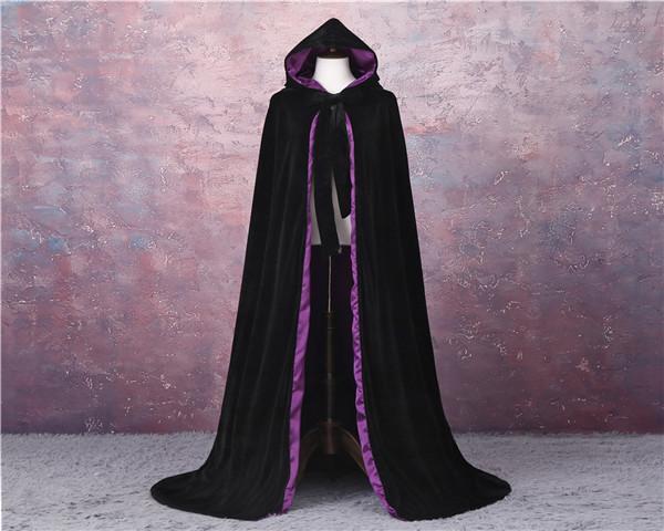 Черная + фиолетовая подкладка