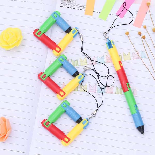 TOMTOSH Foldable Ballpoint Pen Stitch Pen Wholesale Bend Creative Student Prize Item