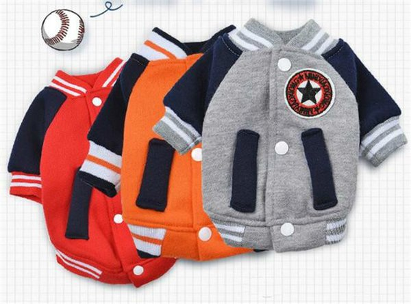 Low Price Small Dog Clothes Pet Coat Outfit Puppy Sweater Baseball Uniform Fashion Sport Korean Styles Baseball Jacket For Dog Puppy Apparel