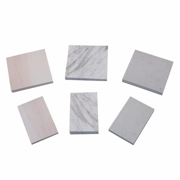 Una varietà di stili di serie di modelli di marmo creativi note adesivi N volte mini Adesivo di carta Per materiale scolastico