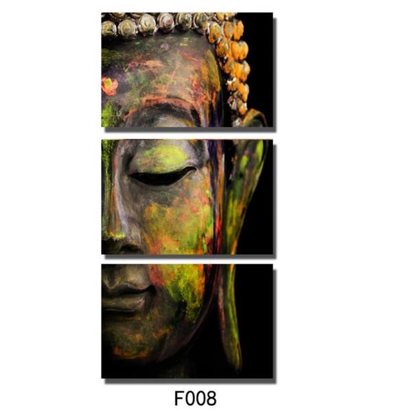 Buddha,3 Pieces Home Decor HD Print Modern Art Canvas (Unframed / Framed)