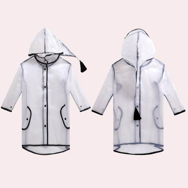 Impermeabile Cappotto antipioggia per bambini Baby PVC Trasparente Rainsuit Kindergarten Kids Rainwear Outdoor Touring Raincoat