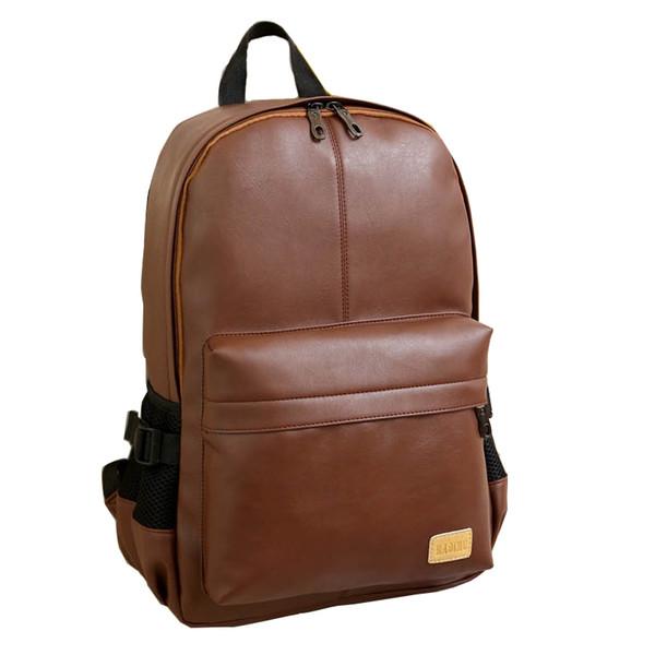 2018 Yeni Varış Erkek Sırt Erkekler Koleji Okul Çantası Moda Daypacks Laptop Sırt Çantası Erkekler Sırt Çantası Rahat PU Deri Sırt Çantaları