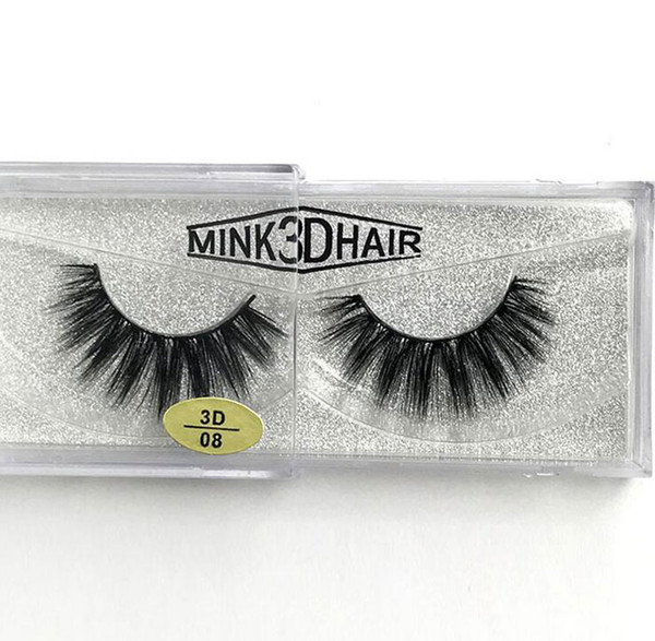 New arrival Real Siberian 3D Mink Strip False Eyelash Long Individual Eyelashes Mink Lashes free shipping