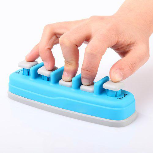 top popular Blue Piano Electronic keyboard Hand Finger Exerciser Tension Training Trainer 2021