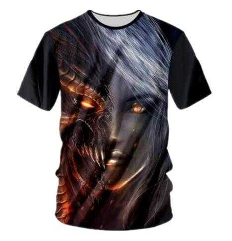 Dragon Mask Witch 3D Printed Women/Men's T-Shirts Fashion Funny Tee Shirt Quick Dry Comfortable Clothing Crewneck Sweats Tops