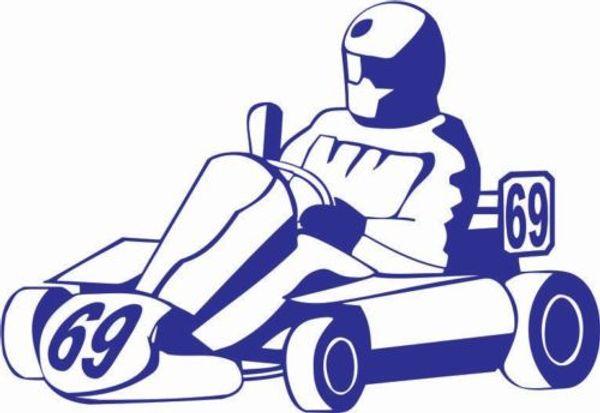 Großhandel Go Kart Fahrer Fahrer Auto Aufkleber Vinyl Car