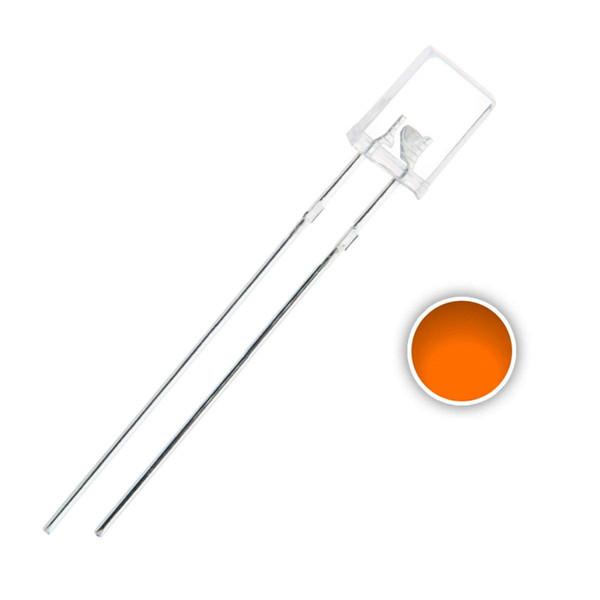100 pcs 2x5x7 mm Orange(Amber) LED Diode Lights (Square Rectangle Clear Transparent DC 2V 20mA) Lighting Bulb Lamps Electronics