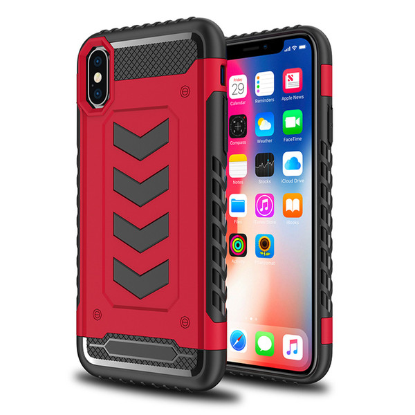Hybrid Armor Cases For iPhone X cases 7 colors iphone 7 8 plus 6S TPU+PC shell case