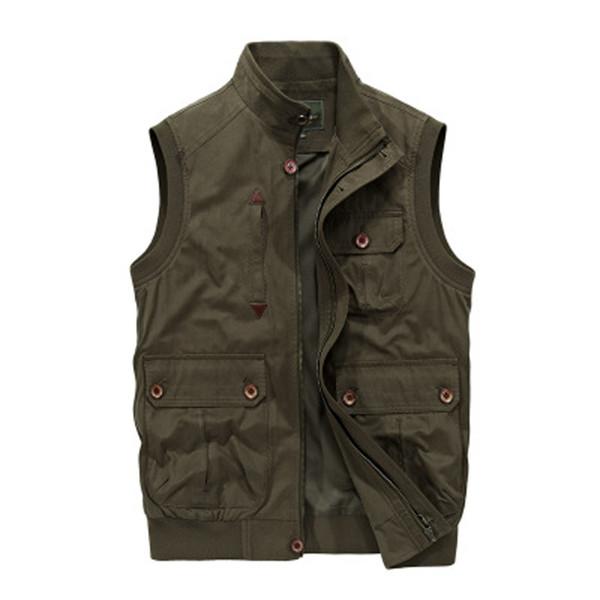 2018 Autumn Male Vest Men Outwear Vest Men Summer Mens Thin Mesh Multi Pocket Photographer Waistcoat Size 3XL