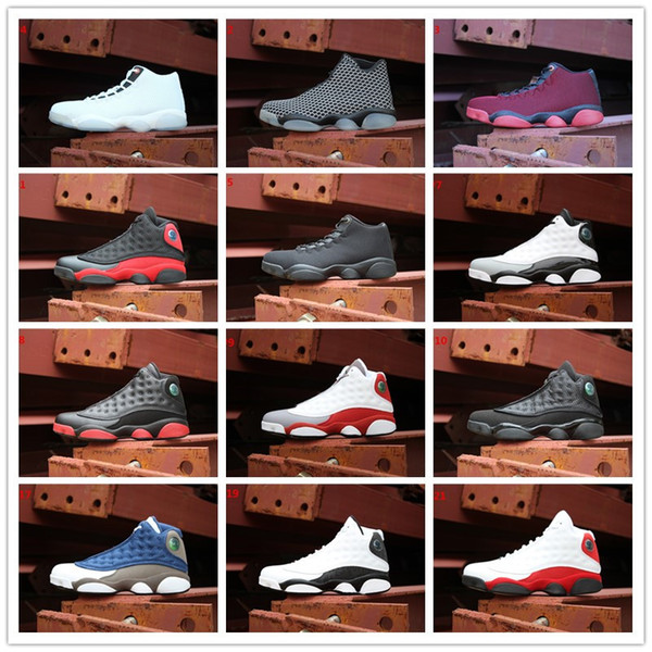 2018 New 13 XIII Woven Horizon All White Black Cat Bred Playoffs Bordeaux Wheat Navy Hyper Basketball Shoes Jumpman Future 13s Sneakers 5-12