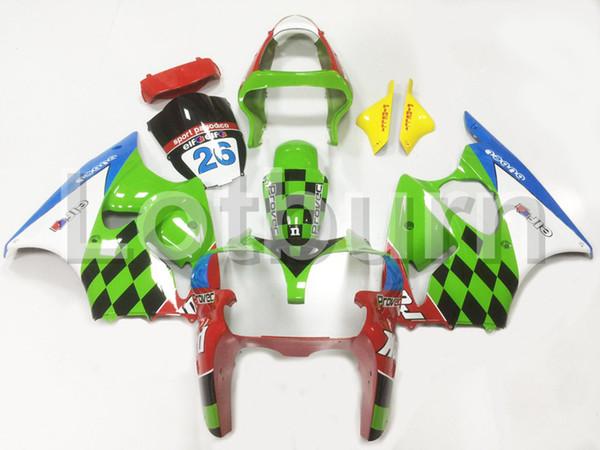 Kit carenatura moto verde adatto per Kawasaki Ninja ZX6R 636 ZX-6R 2000 2001 2002 00 01 02 Carenature Iniezione della carrozzeria su misura per moto A97