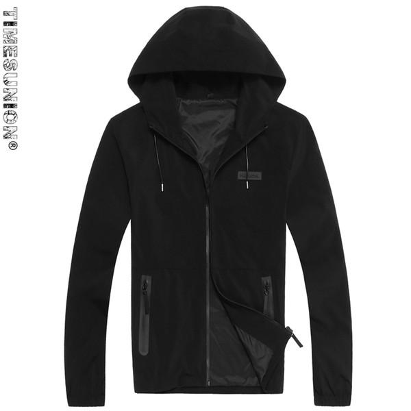 Venda por atacado- (Plus Size 8XL 7XL 6XL) 2017 Nova Trench Coat Men marca de vestuário de alta qualidade masculino longo preto trench coat jaqueta corta-vento