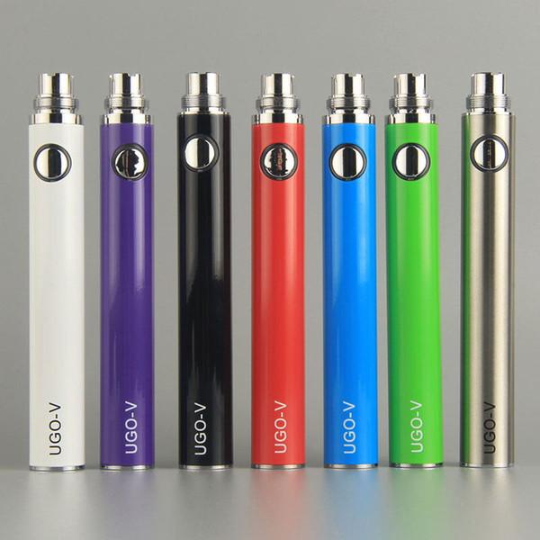 100 % 오리지널 UGO-V UGO-T 650 / 900 / 1100mAh 배터리 Ego EVOD 마이크로 USB Passthrough 하단 충전 510 Vape E Cigarette Battery Authentic