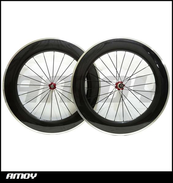 Free shipping 700c 88mm 23mm wide Carbon Fiber Clincher Road Bike Bicycle Wheels Novatec Hubs Aluminum Alloy Brake Cycling