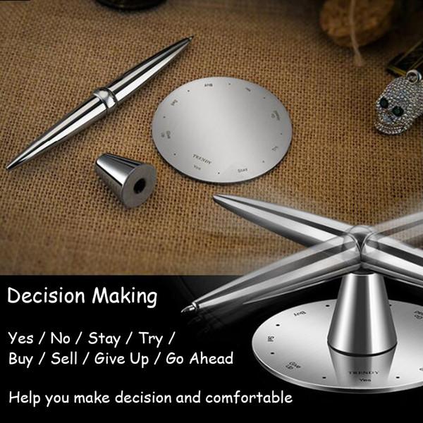 Fidget Pen Trendy Elaborate Creation Compass Decision Making Decompression Prophecy Magnetic Pens EDC Desktop Toys Office Desk Decoration