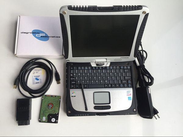 DA Dongle JLR SDD VCI Auto Diagnostic tool for Land-rover Ja/guar DA-Dongle J2534 V145 HDD+ CF19 Toughbook i5 laptop 4G RAM